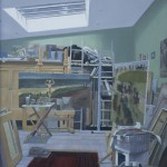 John Brobbel RBA, Studio Interior, oil on canvas, 80 x 65cm
