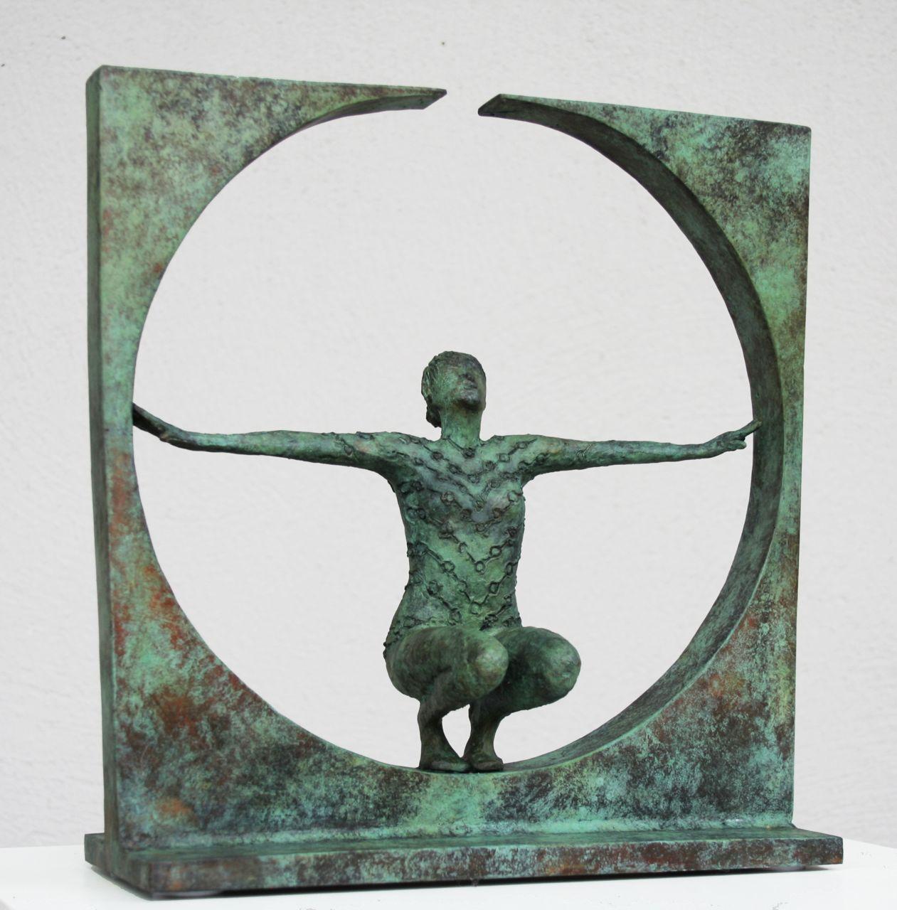 Rowan Gillespie - Solstice study, bronze, ed of 9, 31 x 30 x 11.5 cm