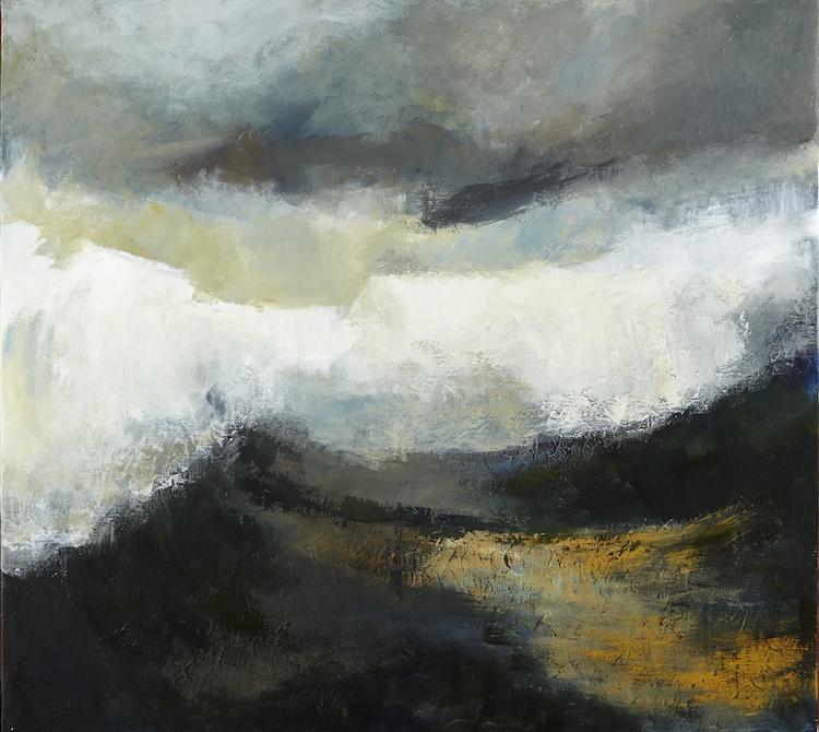 Margaret Egan, The Wave, oil on linen, 102 x112cm