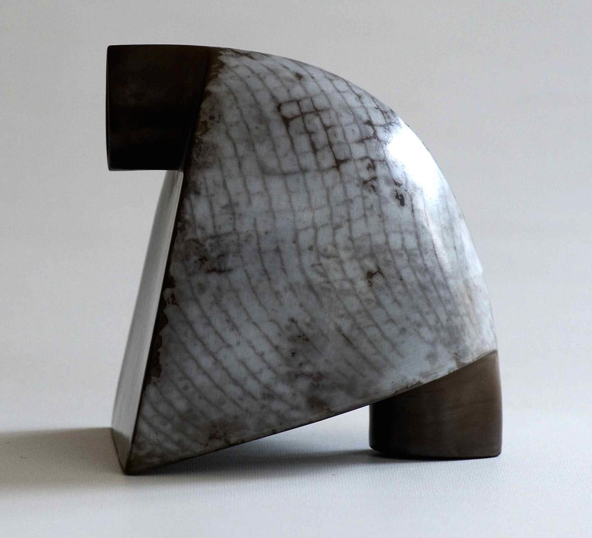 Alison Kay, Heeled Grey Wedge Form, ceramic, 16 x 16 x 11cm, EUR 500