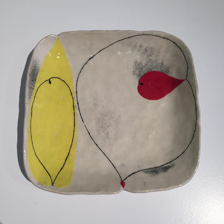 Andrew Ludick, Abstract Square Plate I, glazed ceramic, 16cm, EUR95 SOLD