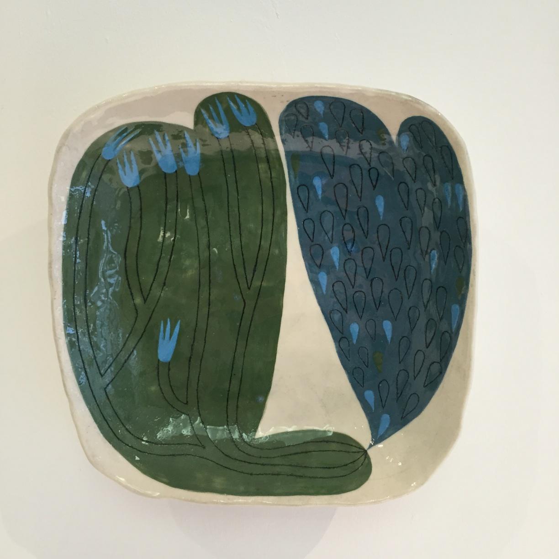 Andrew Ludick, Abstract Square Plate II, glazed ceramic, 16cm, EUR 95