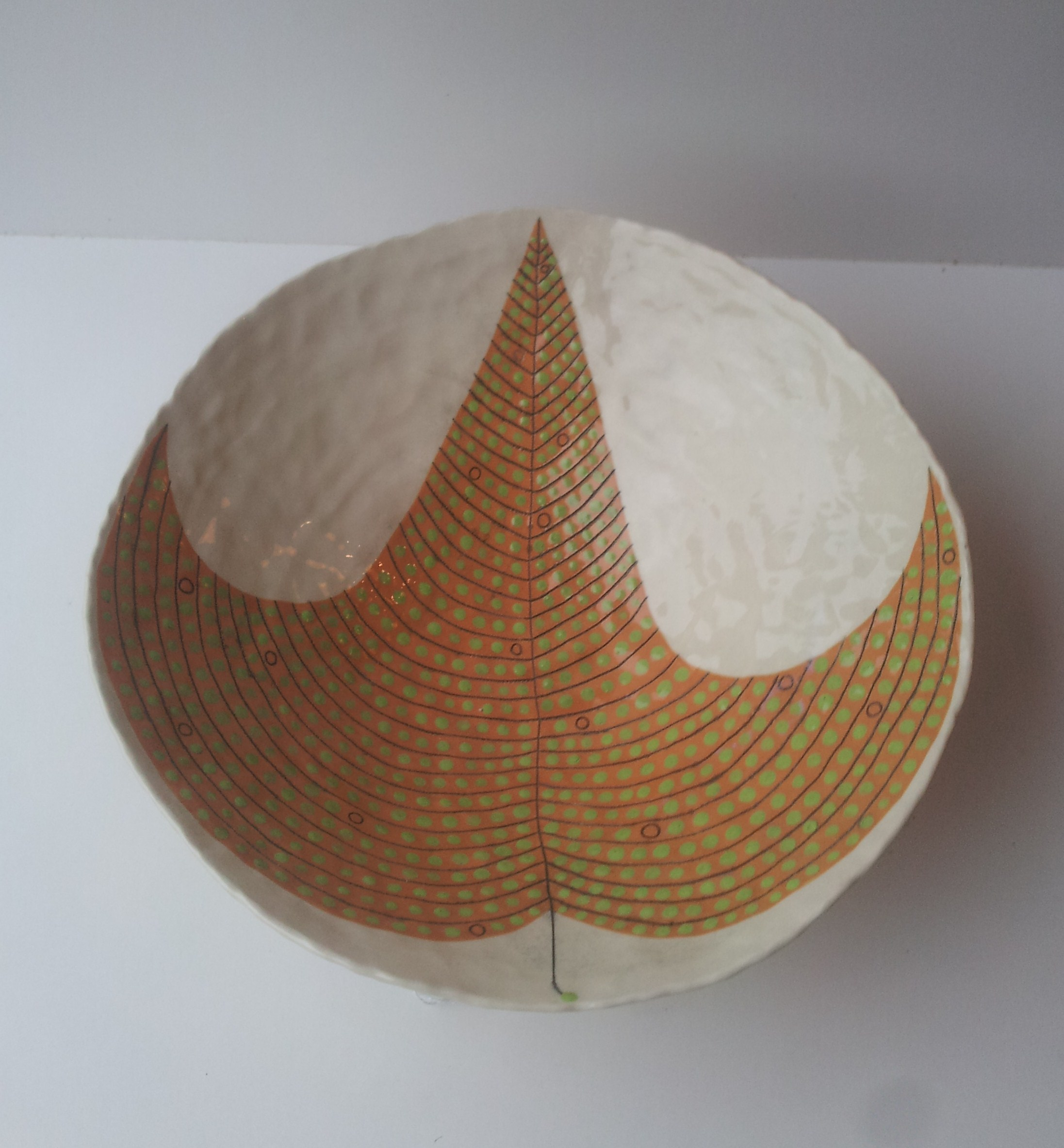 Andrew Ludick, Orange Leaf Bowl, glazed ceramic, 25cm, EUR270