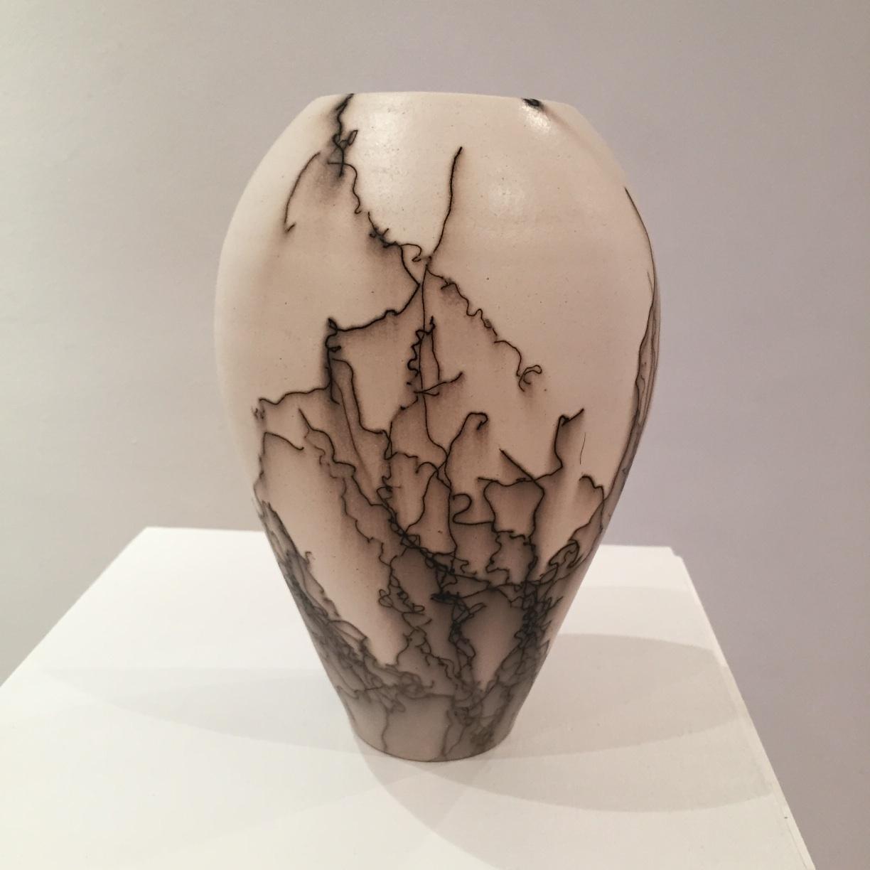 Claire Molloy, Classic Vesssel, horsehair embellished ceramic, 22 x 14cm EUR 90