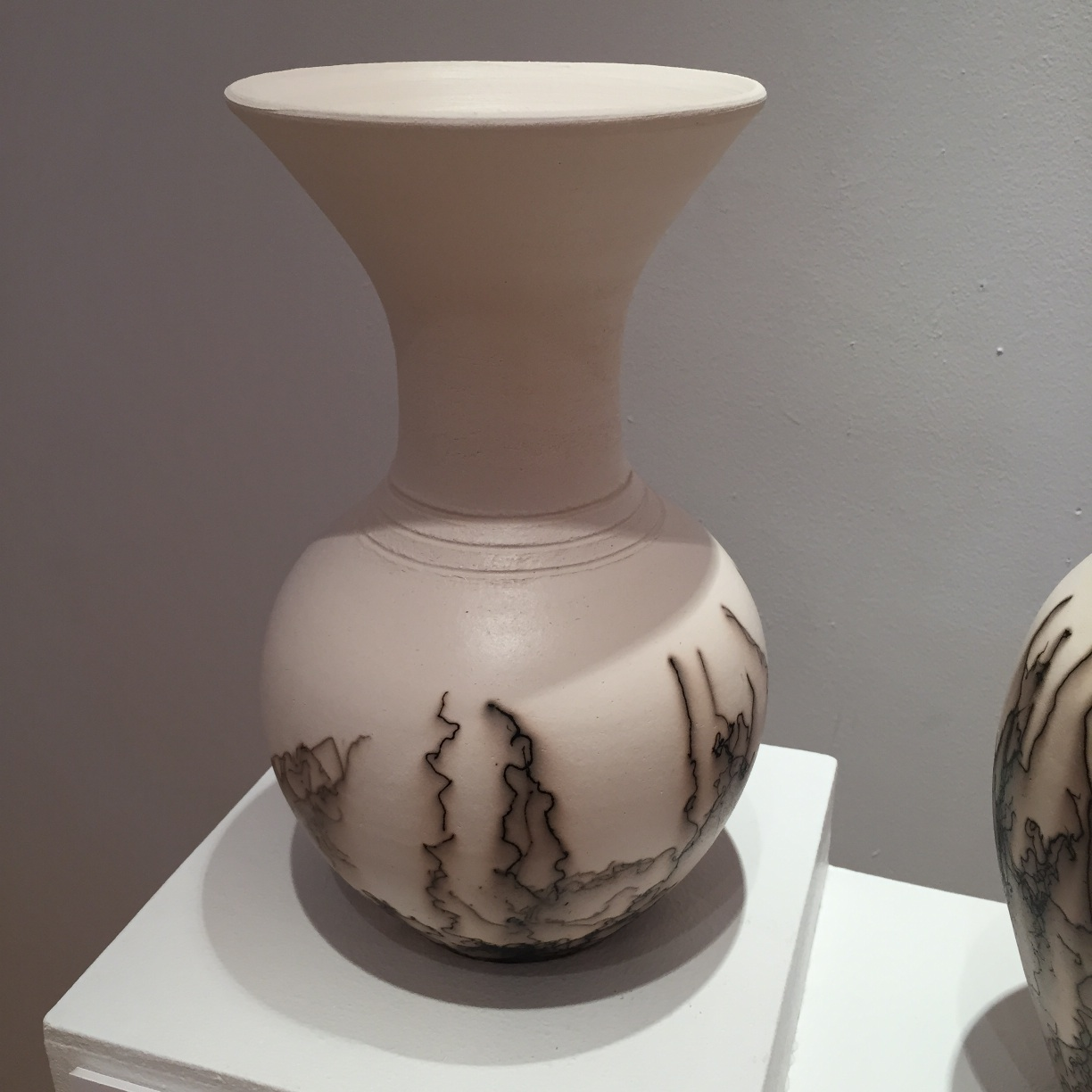 Claire Molloy, Medium Long-Necked Vessel, horsehair embellished ceramic, 25 x 13cm, EUR 130 SOLD