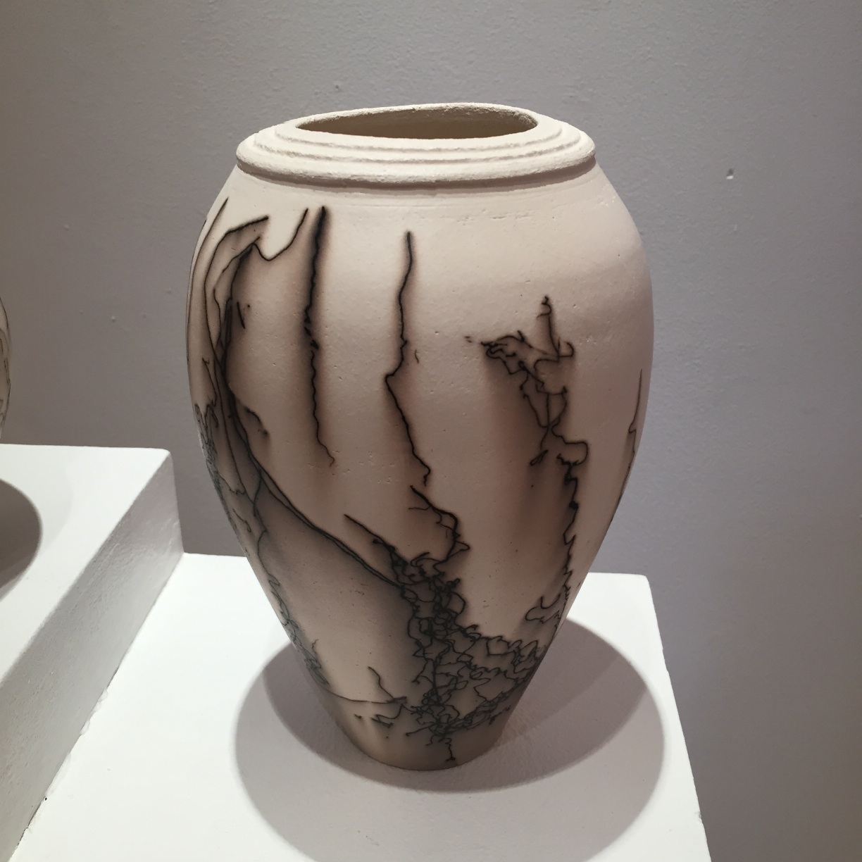 Claire Molloy, Rimmed Vessel, horsehair embellished ceramic, 20x14cm, EUR 90
