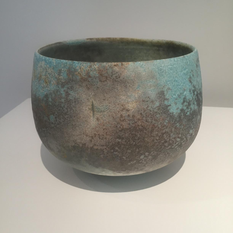 Jack Doherty, Smoky Grey & Blue Round Form, soda fired porcelain, 18.5 x 21cm, EUR 650 SOLD