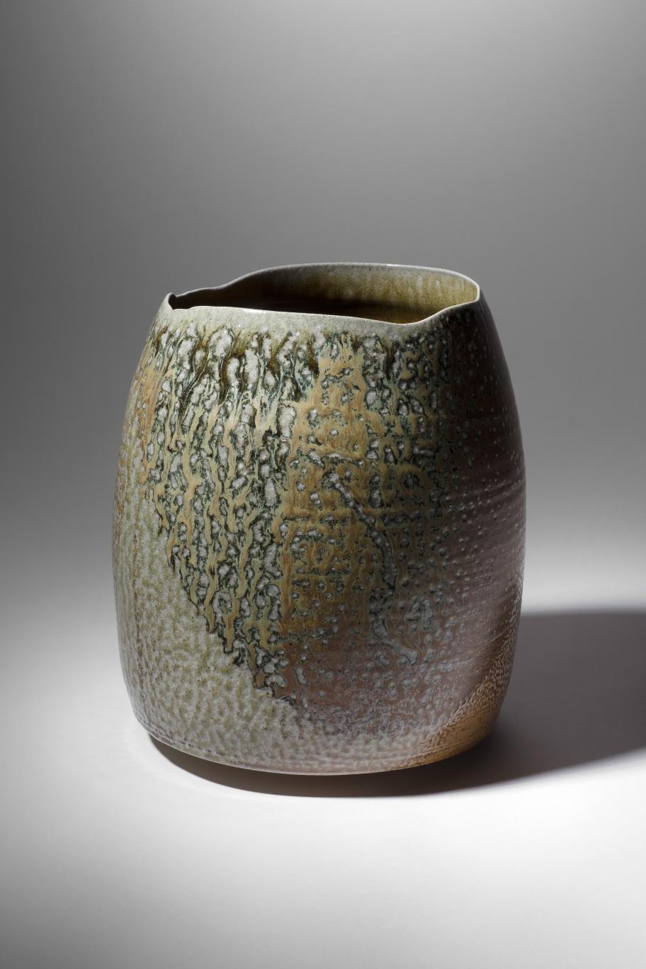 Mandy Parslow, MP03 Barrel Vessel, wood fired salt glazed stoneware, 27 x 22cm, EUR 800