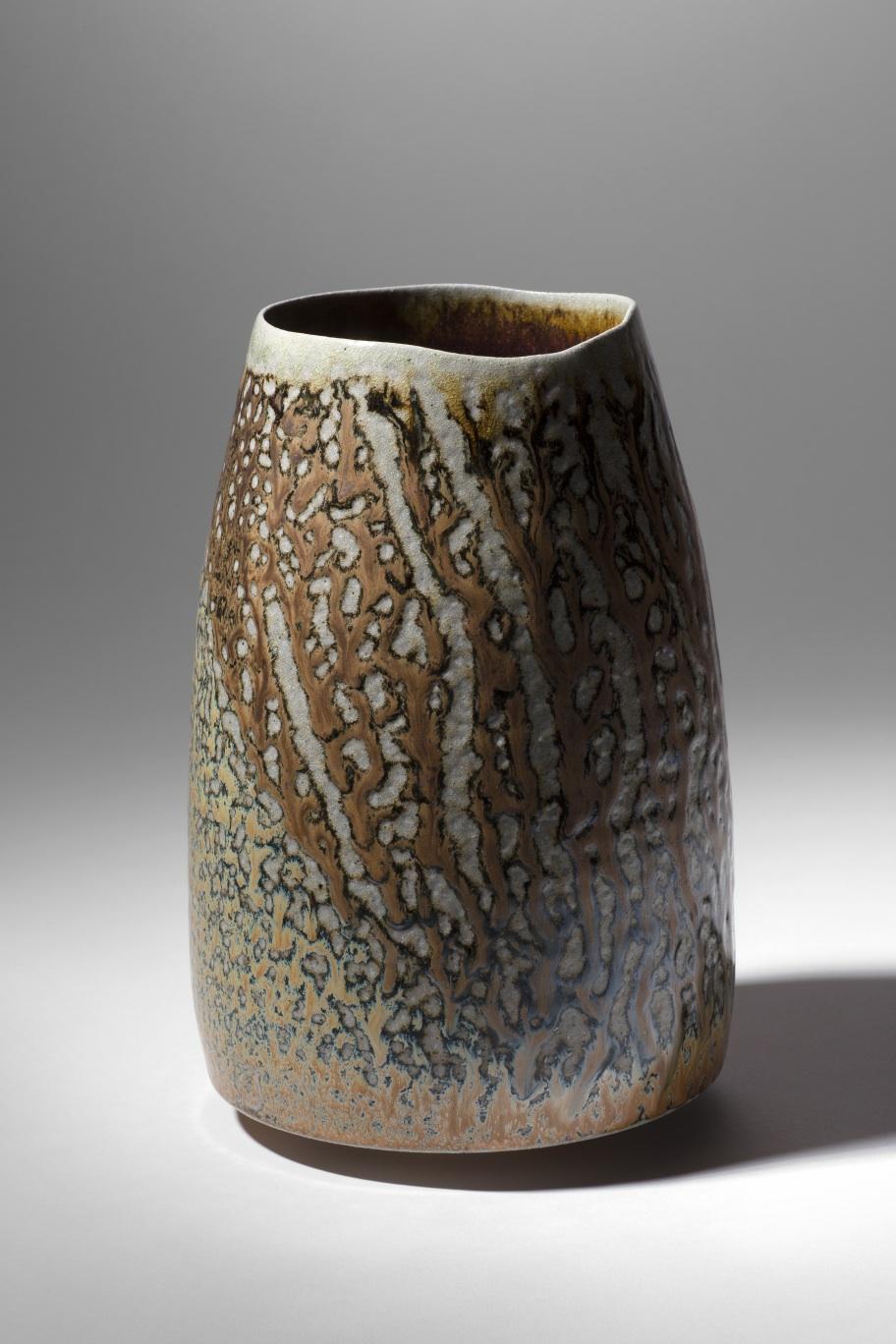 Mandy Parslow, MP08 Barrel Vessel, wood fired salt glazed stoneware, 21 x 14cm, EUR 380