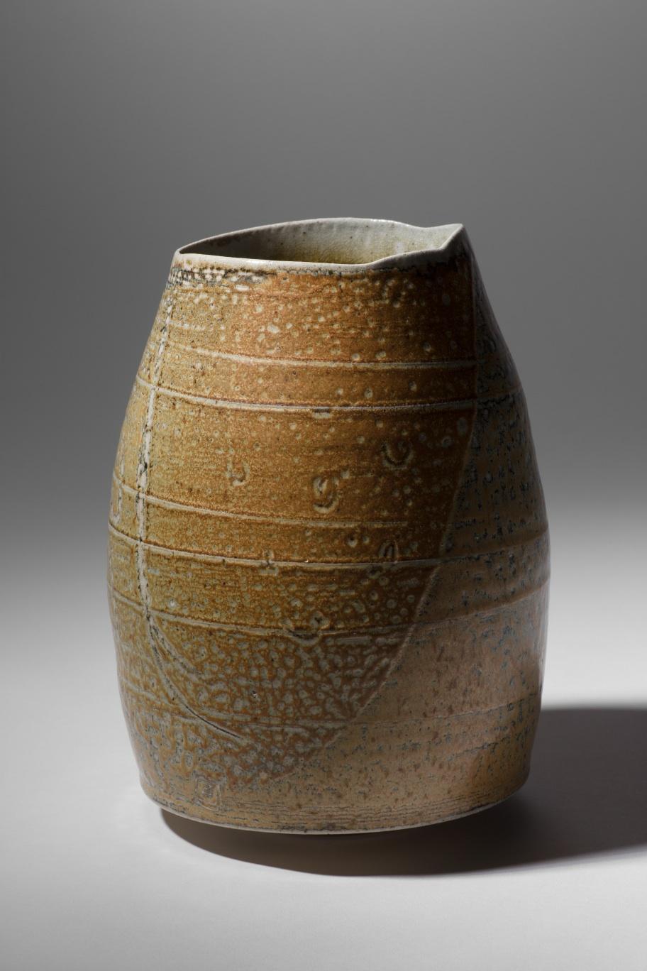 Mandy Parslow, MP09 Barrel Vessel, wood fired salt glazed stoneware, 20 x 14cm, EUR 280