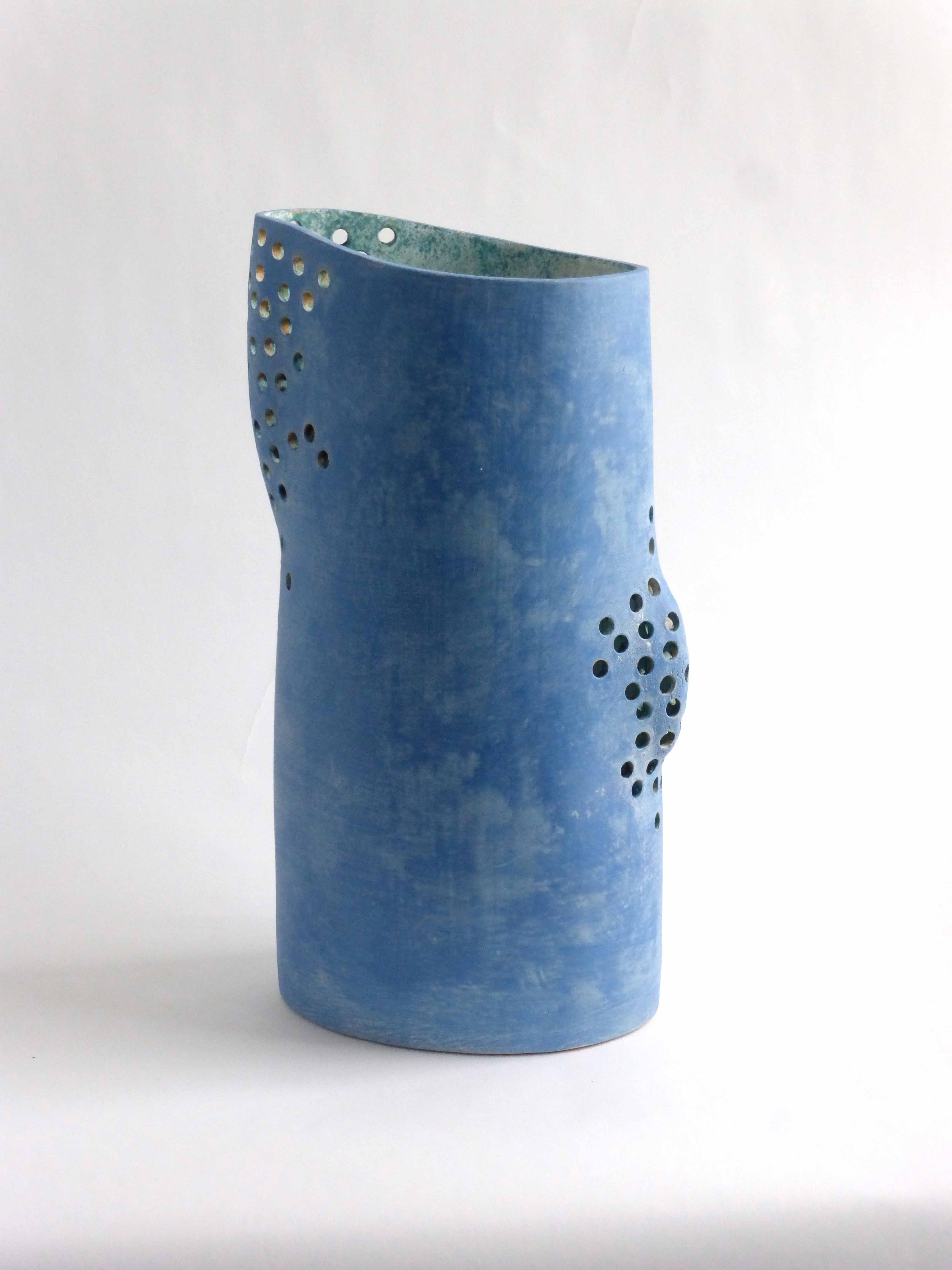 Mike Byrne, Perforated Vessel, fired clay, 2014, 42 x 20 x 17cm, EUR500 SOLD