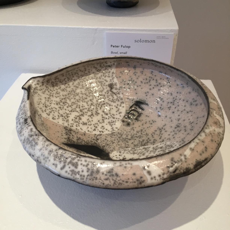 Peter Fulop, Bowl, large, raku ceramic, 8x20cm, EUR 60 SOLD