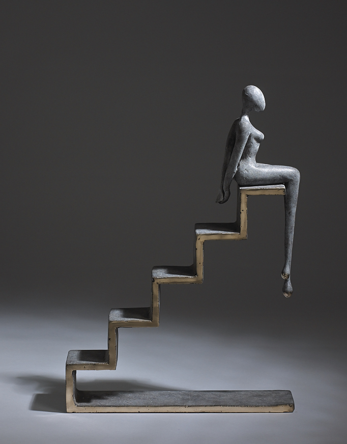 Orla de Brí, Steps, bronze, unique, 43 x 32 x 7cm