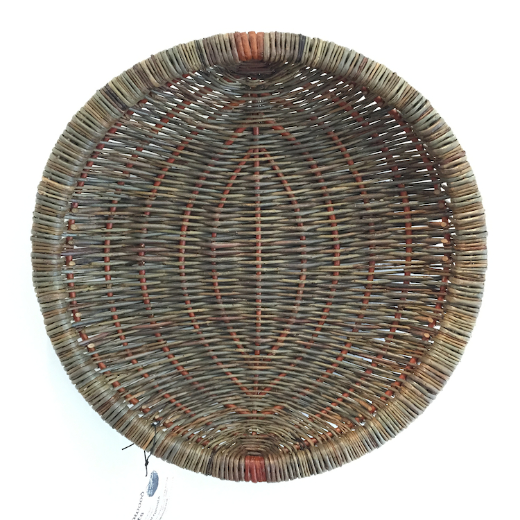 Alison Fitzgerald, Round Platter with Double Rim, willow, 22cm diameter