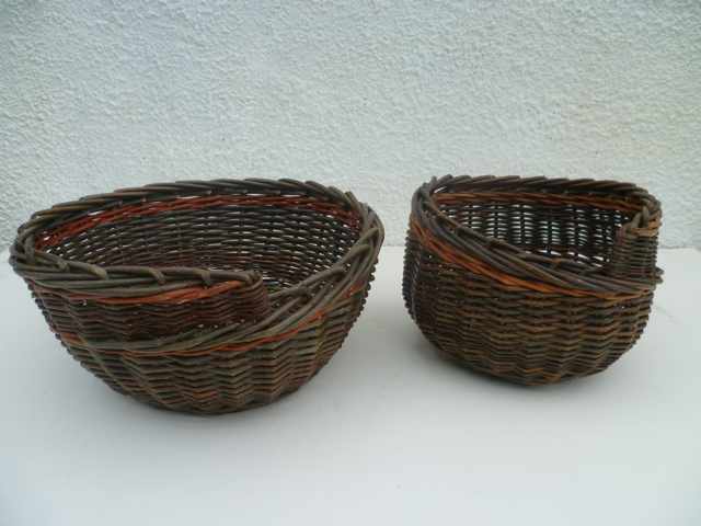 Alison Fitzgerald, Spiral Bowls, willow, large bowl 33 x 14cm, small bowl 22 x 16cm