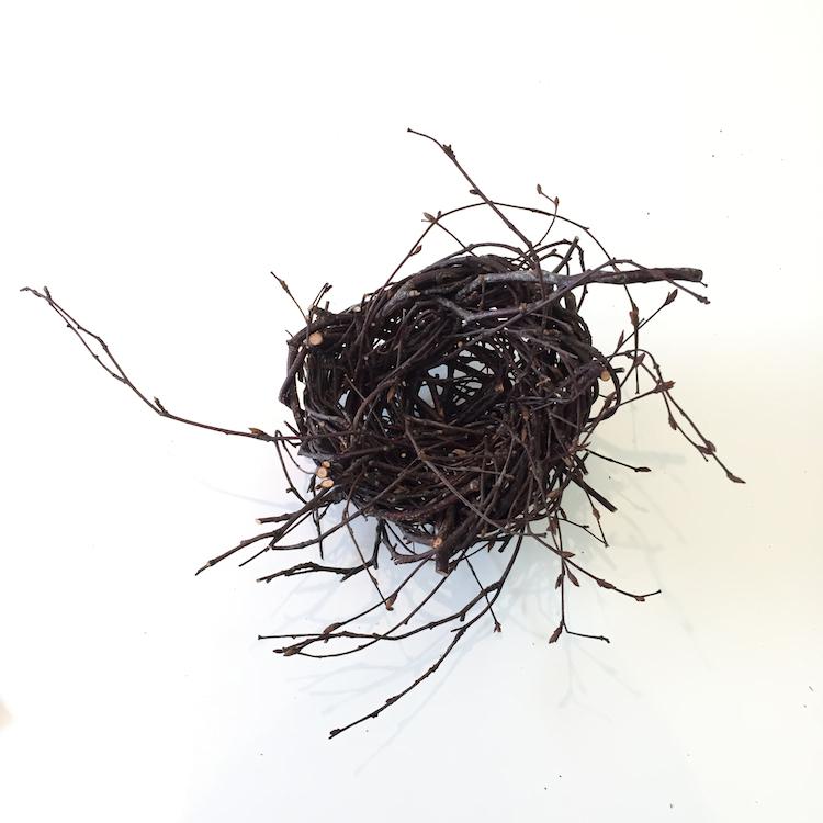 Joe Hogan, Nest SB, birch twigs, h13cm