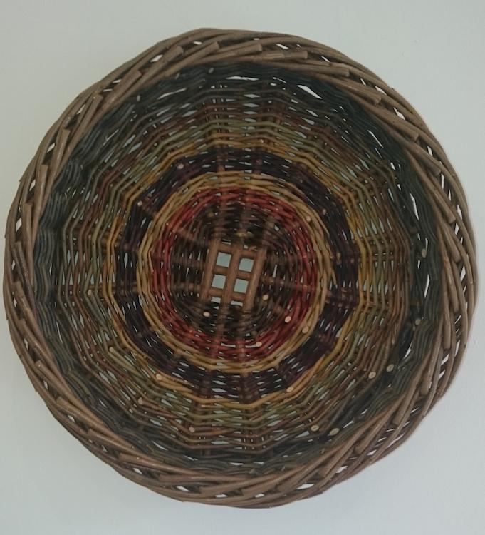 Joe Hogan, Skib with Grid Base, willow rods (various species), 21cm diameter (small)