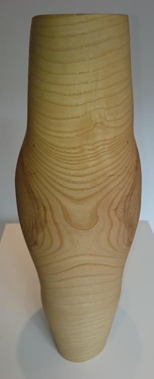 Mark Hanvey, Pith Vessel, native Irish ash, 49 (h) x 17cm diameter, FRONT OF