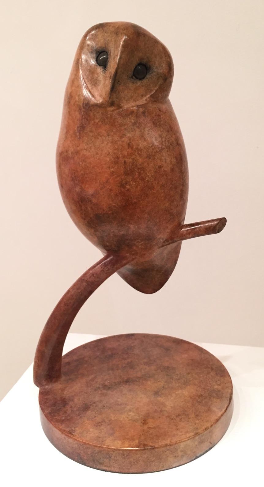 Vadim Tuzov, Owl, bronze, ed of 3, 39 x 21 x 21 cm