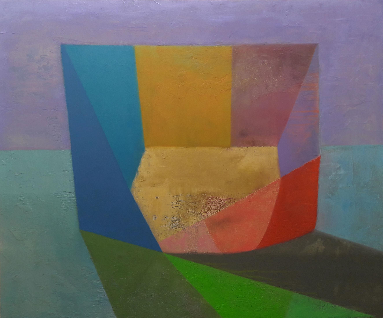 Tom Climent, Aureus, oil & plaster on canvas, 182x152cm