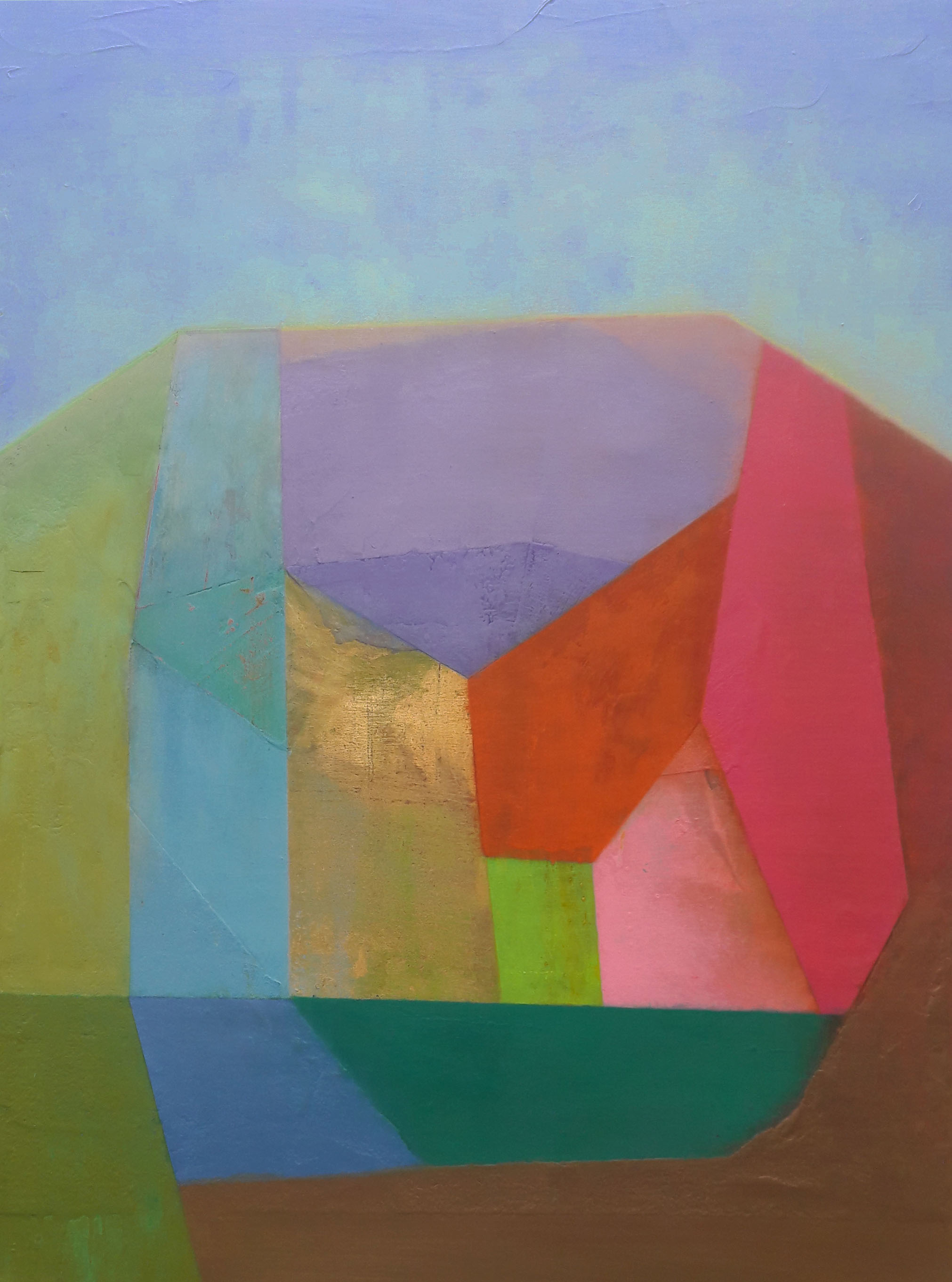 Tom Climent, Garden Heart, oil & plaster on canvas, 104x78cm