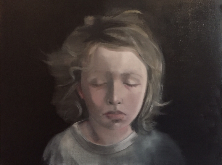 Helen O'Sullivan-Tyrrell, Ferdia, oil on canvas, 50 x 60cm