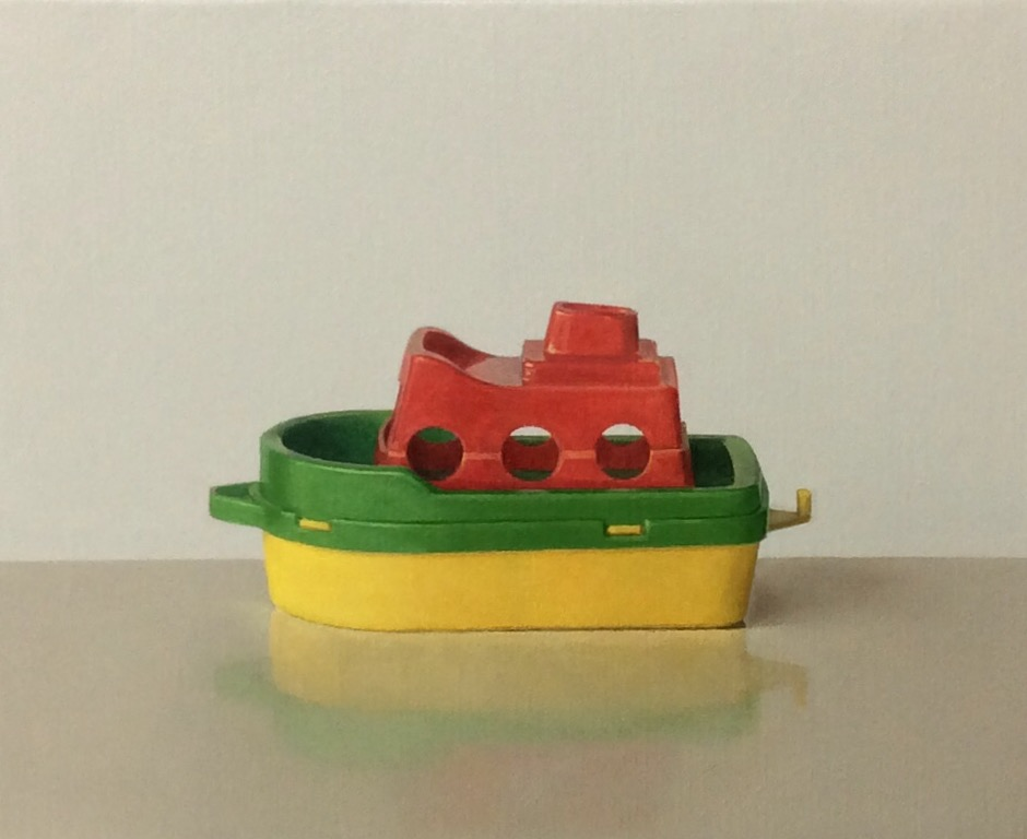 Comhghall Casey,Toy Boat 2, oil on canvas, 23 x 28 cm