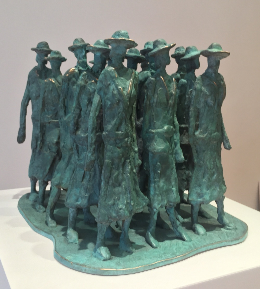 John Behan RHA, Cumann na mBan, bronze, unique, 26 x 30 x 30cm