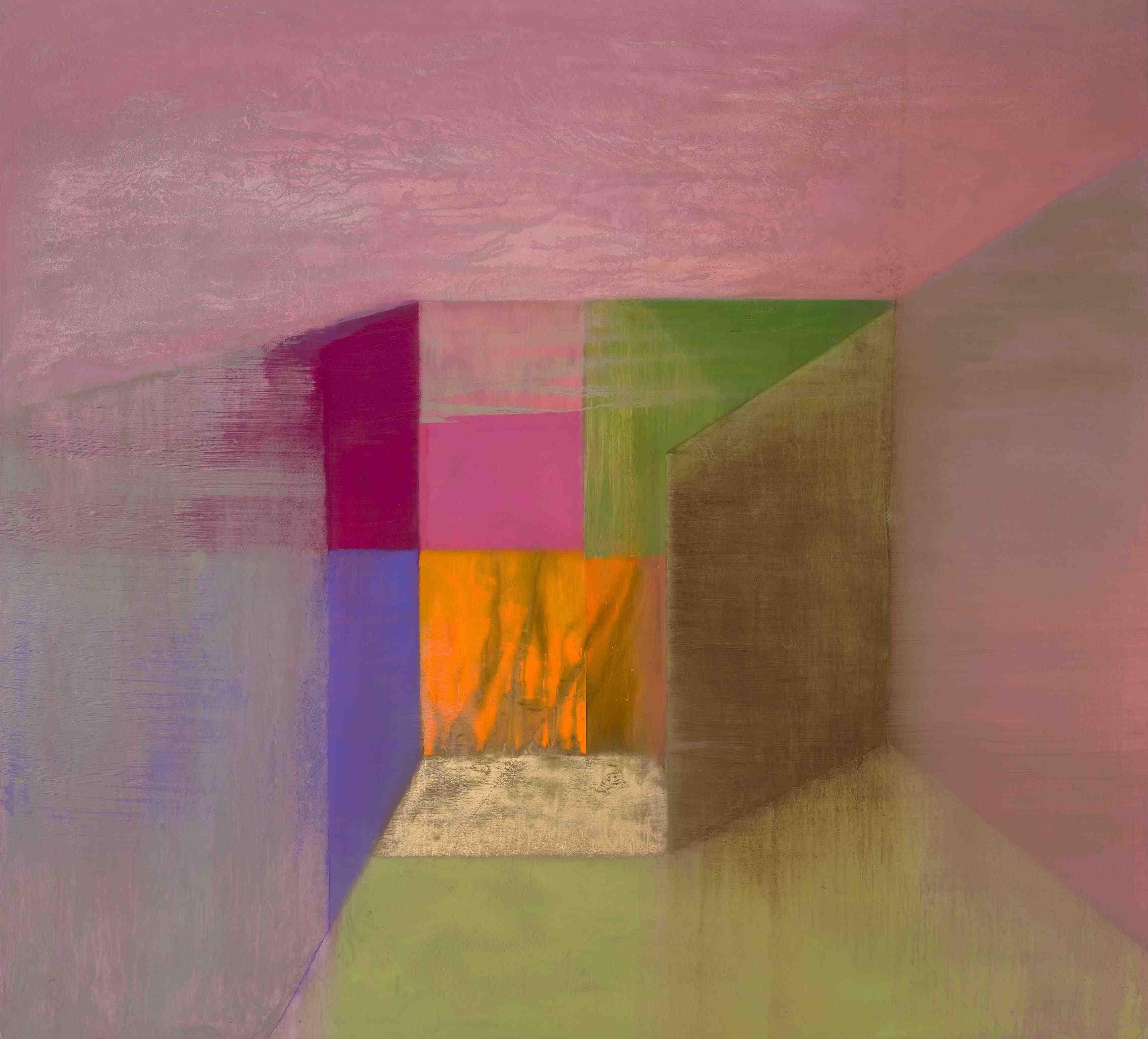 Tom Climent, Heart Box, oil & plaster on canvas, 183 x 164 cm