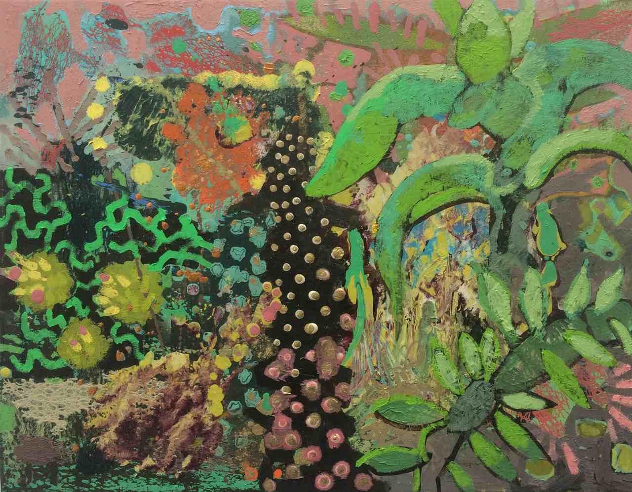 Frances Ryan, Botanic III, 35 x 45 cms, oil on canvas