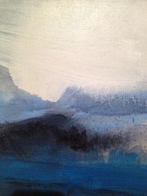 Leah Beggs, Connemara Clouds, 30x25, oil on canvas