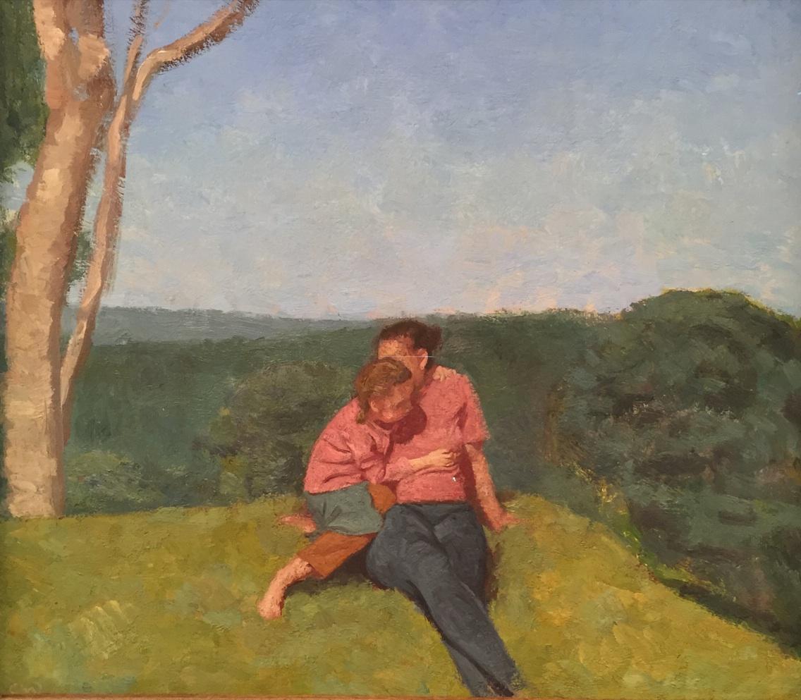 Colin Watson, The Hill, oil on board, 37 x 42 cm