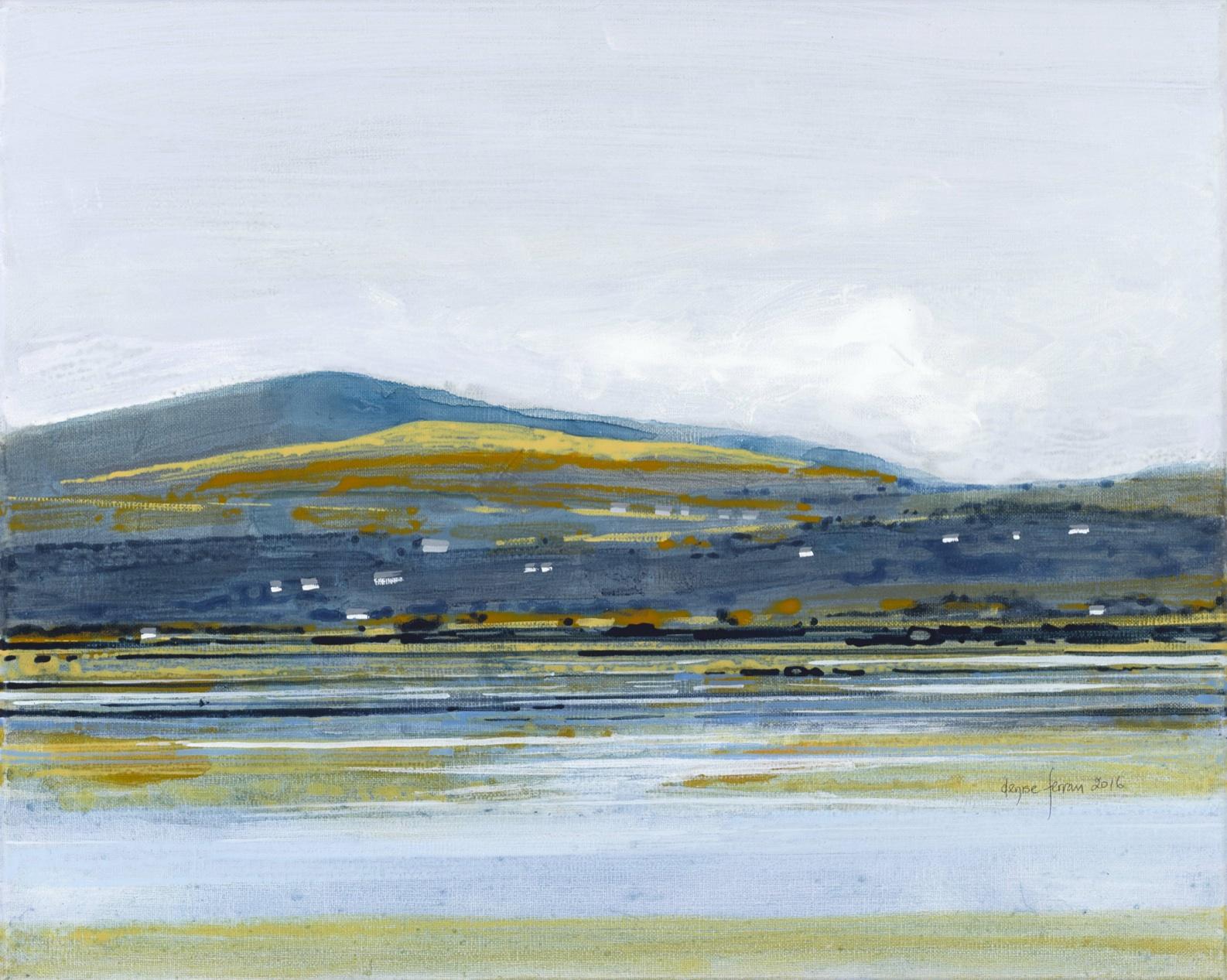 Denise Ferran PRUA, Autumn Trawbreaga Bay, acrylic on canvas, 33 x 41cm