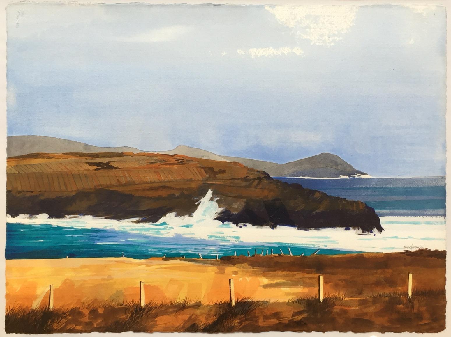 Denise Ferran PRUA, Ballinskelligs Bay, acrylic on watercolour paper, 57 x 76 cm