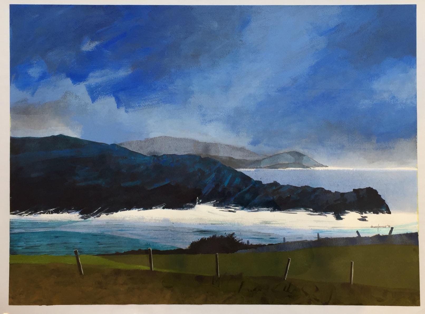 Denise Ferran PRUA, November Cill Rialaig, acrylic on watercolour paper, 57 x 76 cm