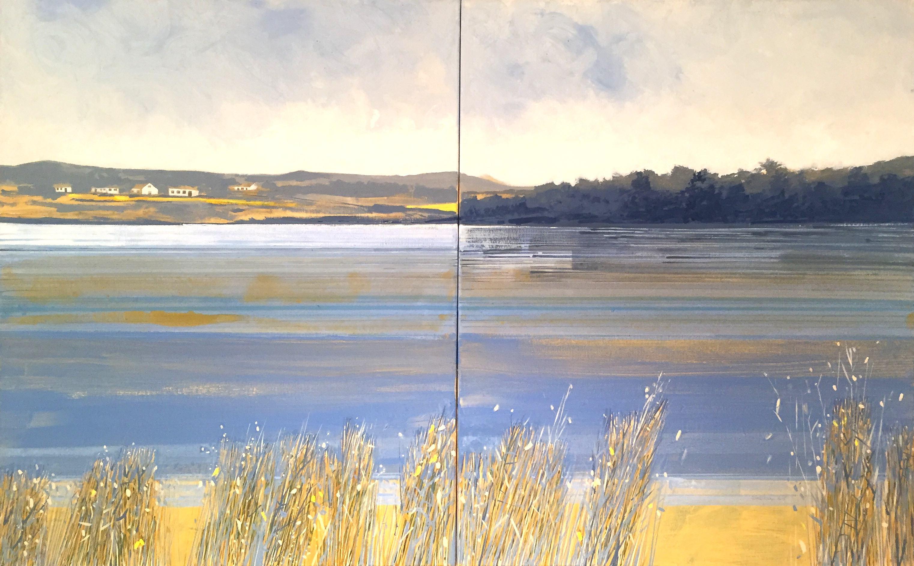 Denise Ferran PRUA, Trawbreaga Bay, Evening, acrylic on canvas, 76 x 122 cm