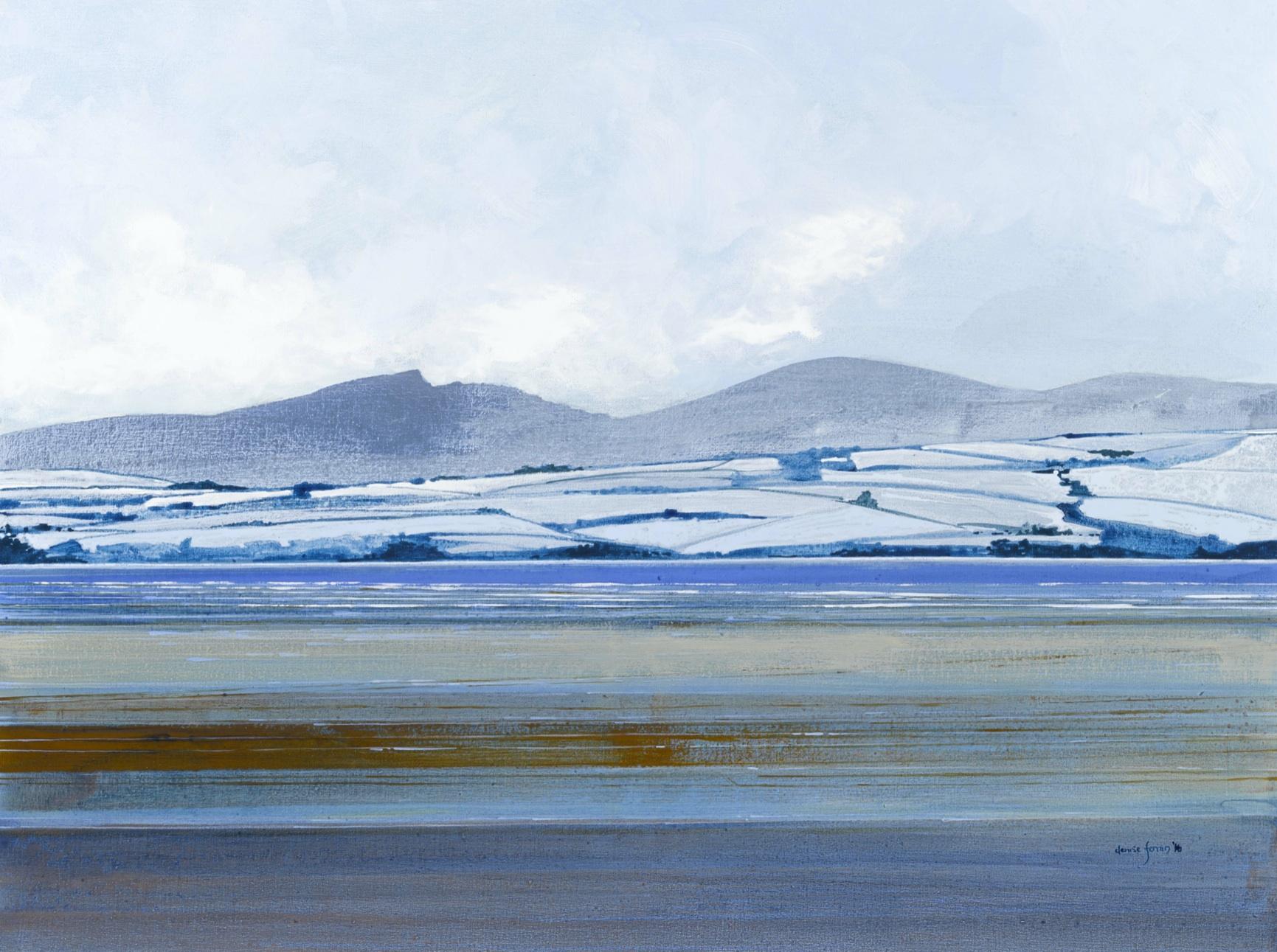 Denise Ferran PRUA, Winter Trawbreaga Bay, acrylic on canvas, 77 x 101cm
