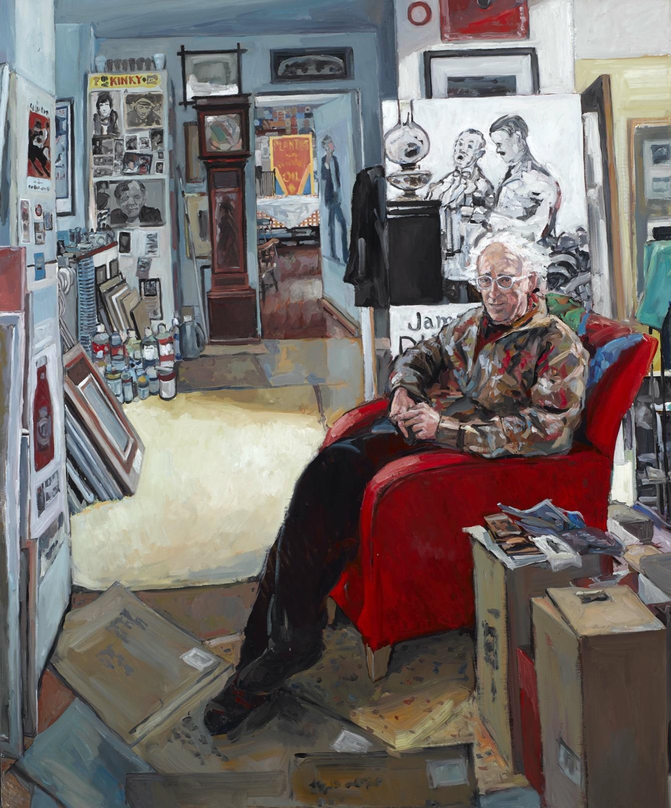 Hector McDonnell RUA, Neil Shawcross In His Studio, oil on canvas, 122 x 91.5cm
