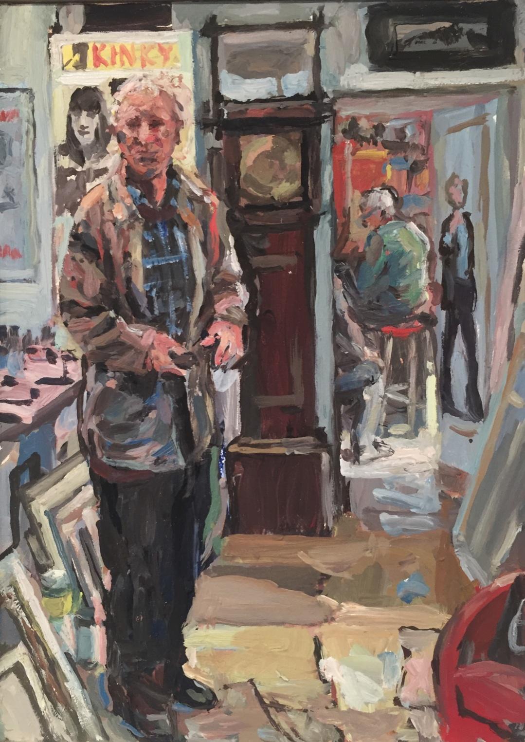 Hector McDonnell RUA, Neil Shawcross Studio, Study, oil on board, 17.5 x 12.5 cm