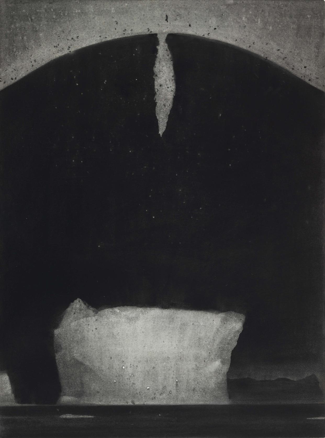 Mark Shields RUA, I Know Where I am Not (for Ernest Shackleton), charcoal, 75 x 50cm
