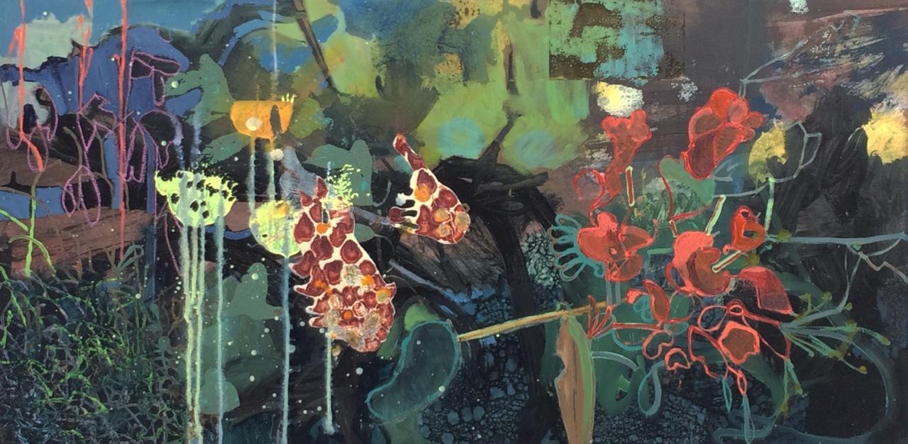 Frances Ryan ARUA, Night Shade II, oil on canvas, 40 x 80 cm