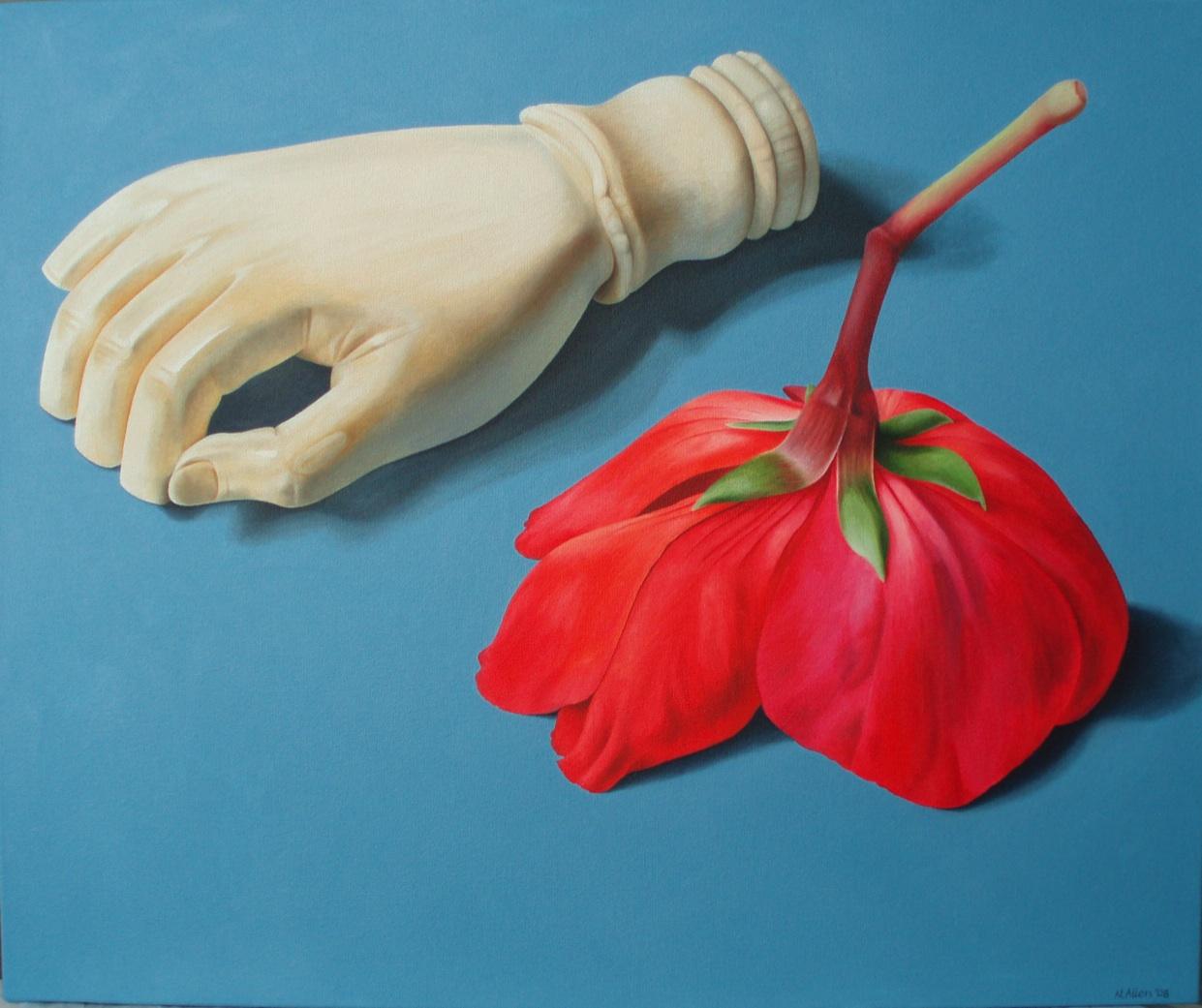 Neisha Allen, Ivory Hand, oil on canvas, 50 x 60cm