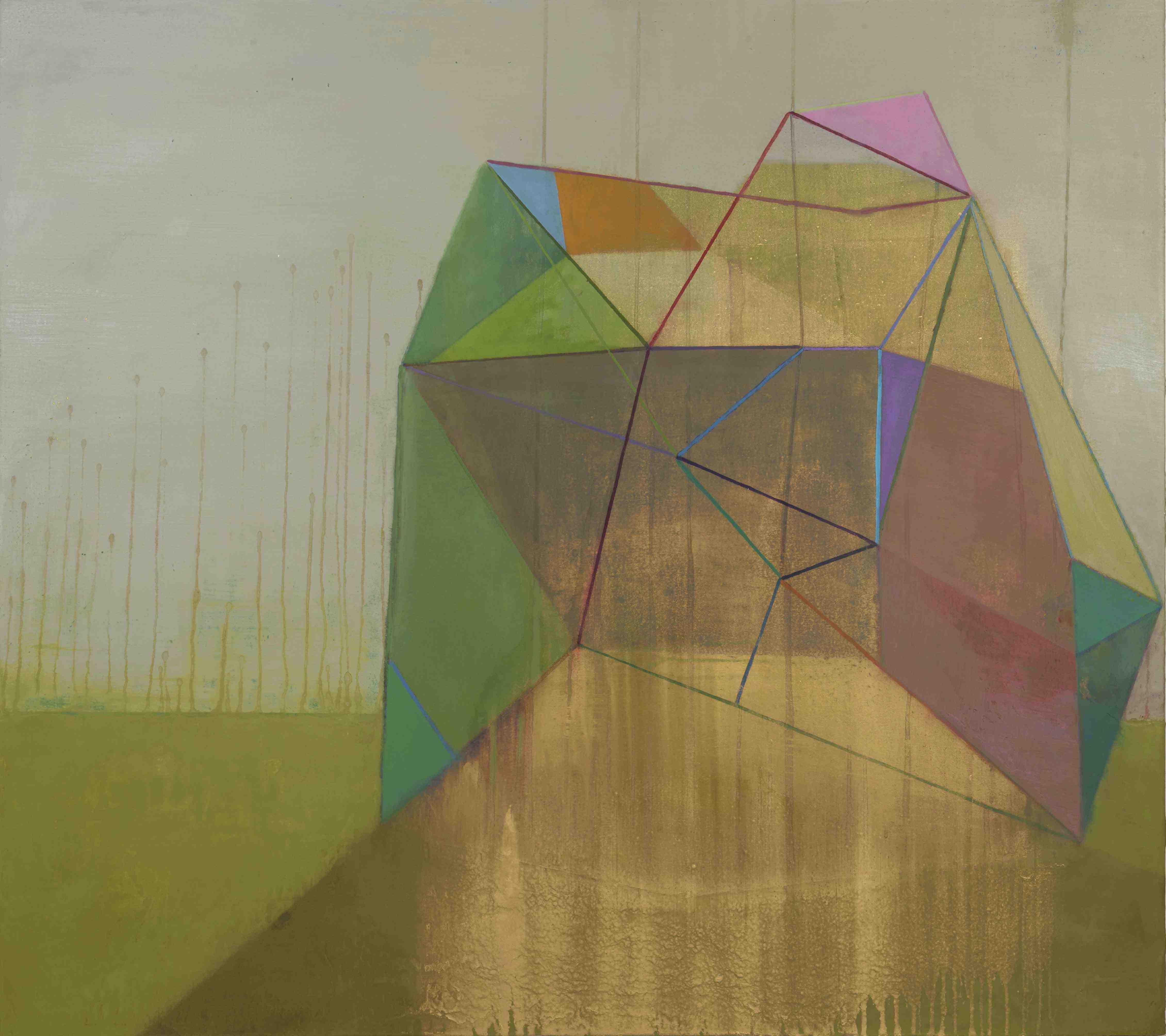 Tom Climent, Obtick, oil & plaster on canvas, 122 x 107 cm, €4,000