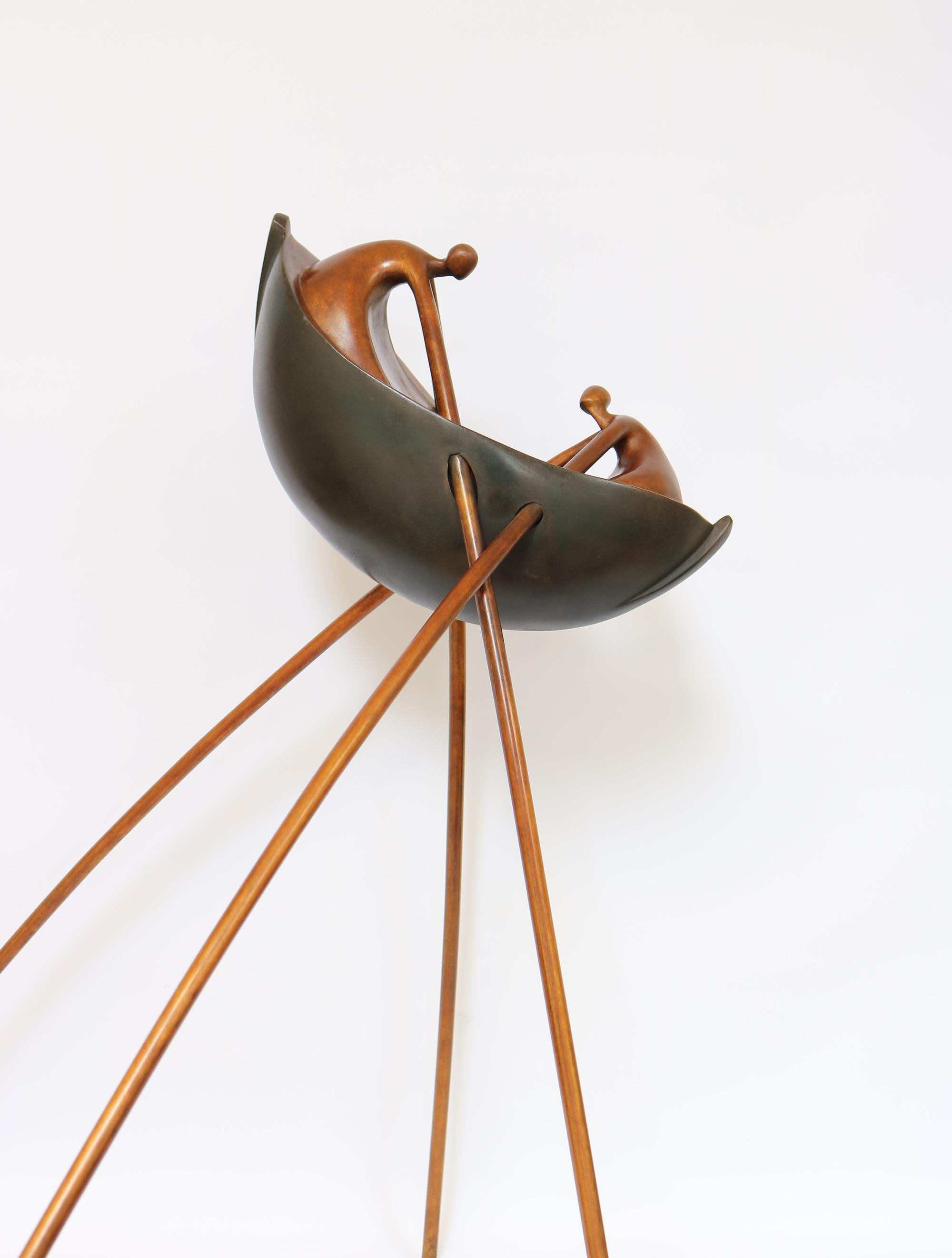 Ana Duncan, Power Struggle, bronze, edition no 1 of 8, 520 x 40 x 40 cm,
