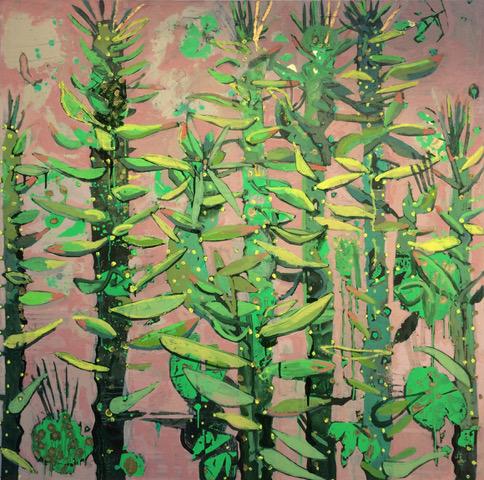 Frances Ryan, Studio Still Life II, oil on canvas, 100 x 100 cms