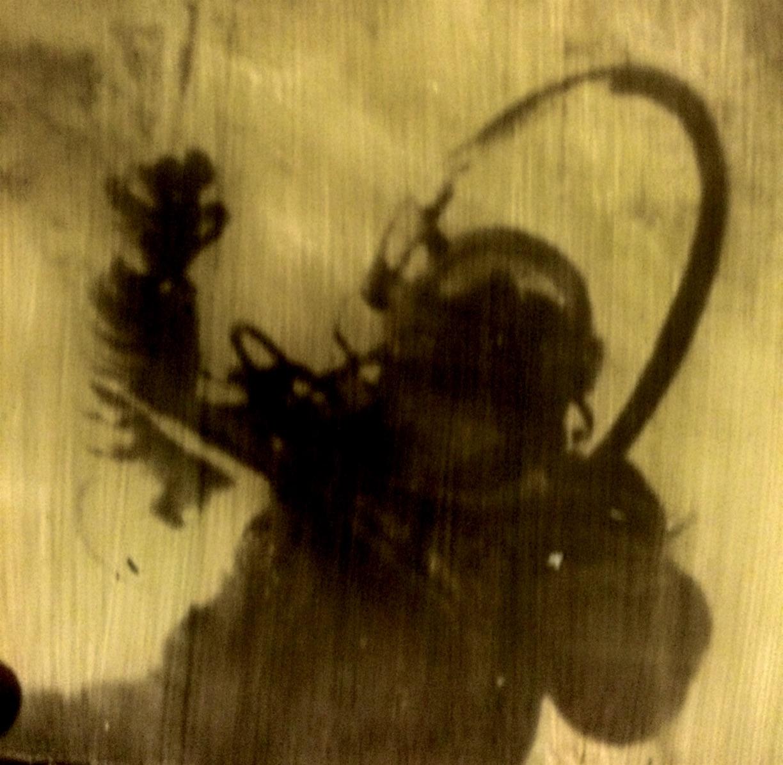 Joby Hickey, Alexei Leonov, handprinted photgraphic plate on glass, 23 x 17cm