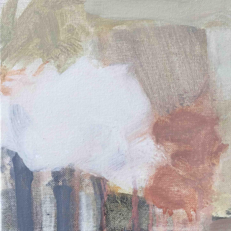 Leah Beggs, Bog Cotton, oil on canvas, 20 x 20 cm