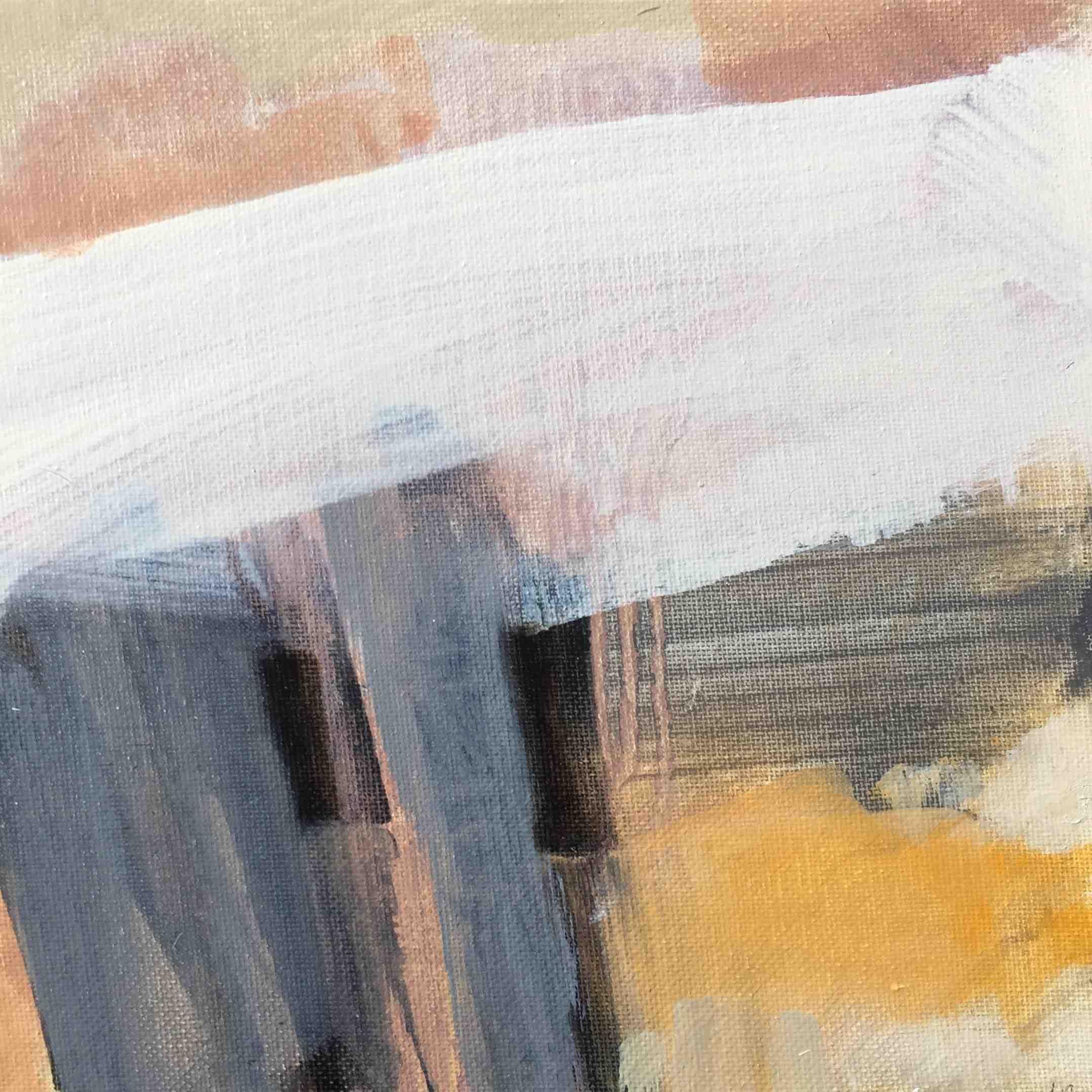 Leah Beggs, High Rise, oil on canvas, 20 x 20 cm