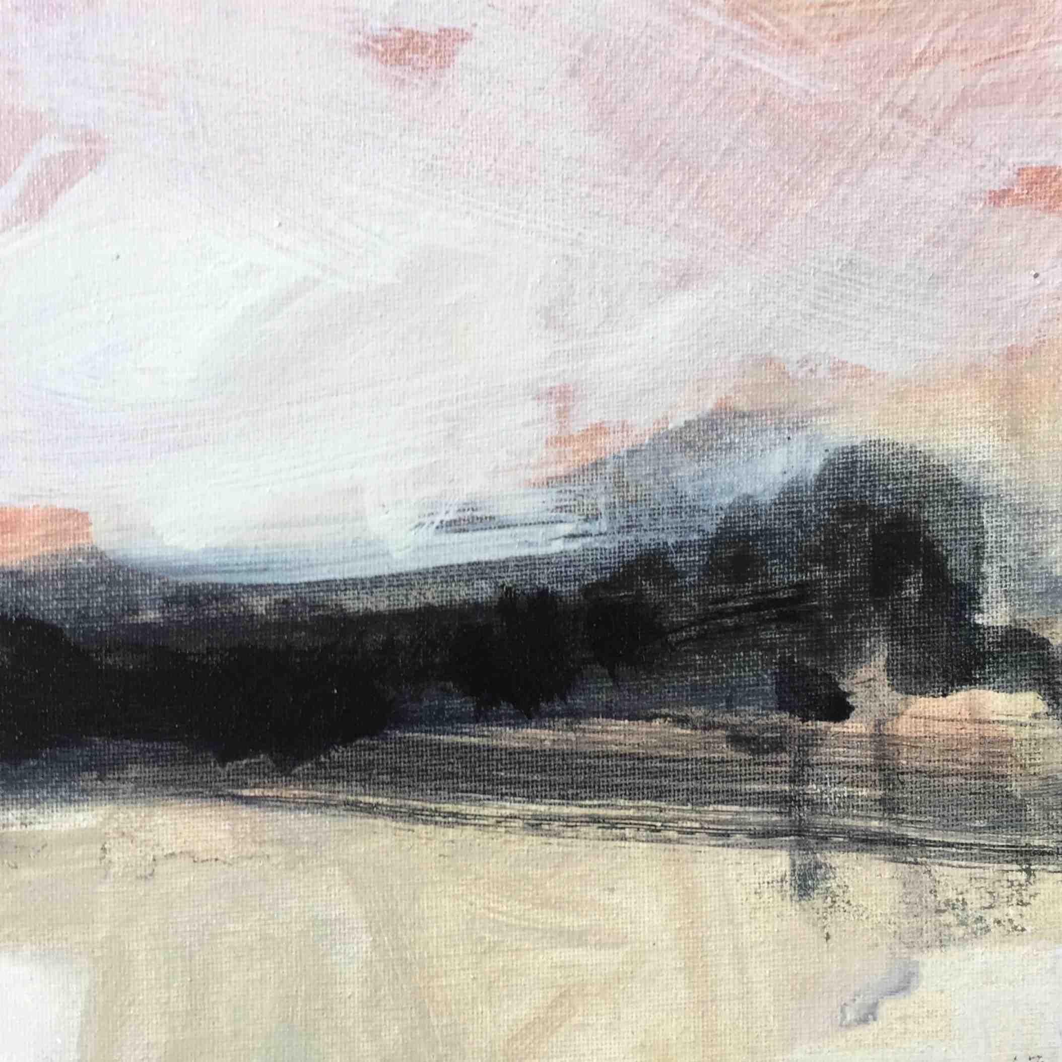 Leah Beggs, Summer Sky, oil on canvas, 20 x 20 cm