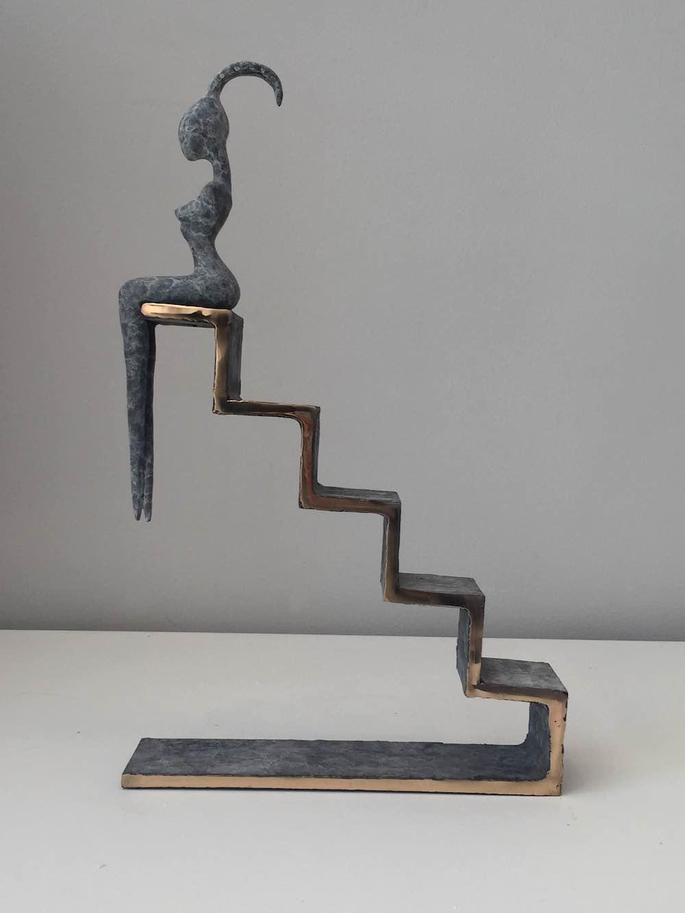 Orla de Bri, Steps, bronze, edition no 2 of 3, 43 x 32 x 7 cm